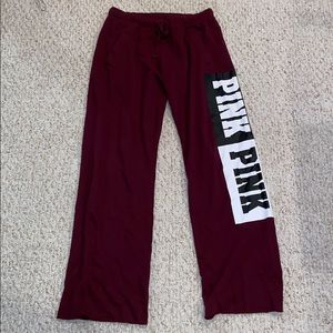 Maroon Sweatpants From Pink